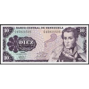Венесуэла 10 боливаров 1981 - UNC