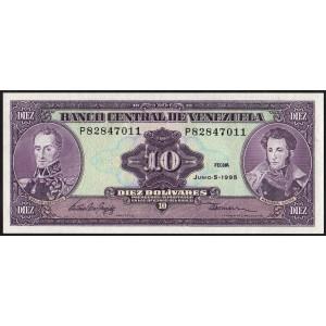 Венесуэла 10 боливаров 1995 - UNC