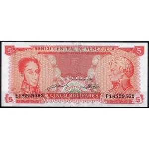 Венесуэла 5 боливаров 1989 - UNC
