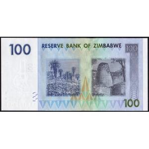 Зимбабве 100 долларов 2008 - UNC