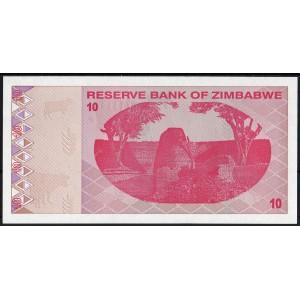 Зимбабве 10 долларов 2009 - UNC