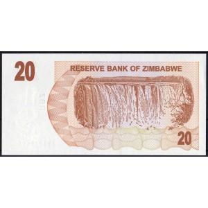 Зимбабве 20 долларов 2007 - UNC