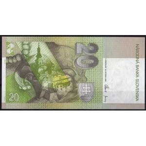 Словакия 20 крон 2006 - UNC